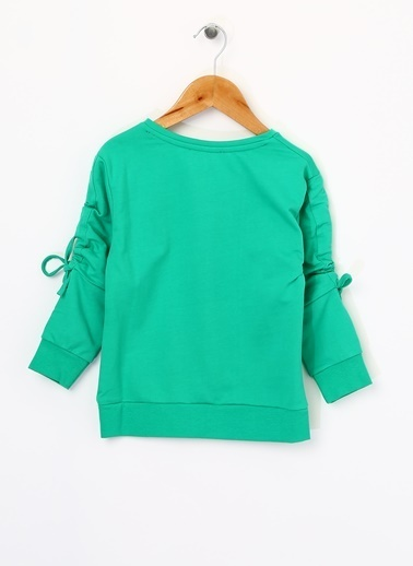 Pink&Orange Sweatshirt Yeşil